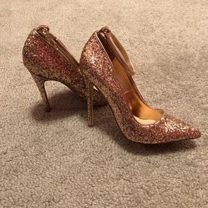 JustFab Gold Heels